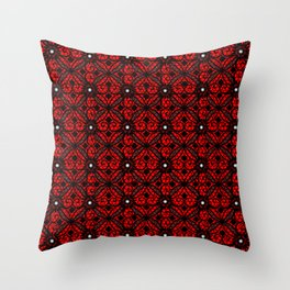 Red Gothic Throw Pillow