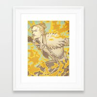 dragon age Framed Art Prints featuring Dragon Age: Justice by Sara Cuervo