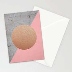 Abstract Shapes Rose Gold Stationery Cards