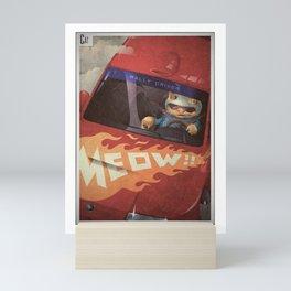 A-Z Animal, Cat Rally Driver - Illustration Mini Art Print