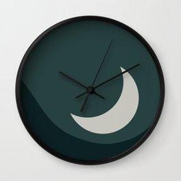 Moonrise Minimalism - Jade Wall Clock