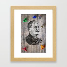 Portrait Of Joseph Stalin Framed Art Print