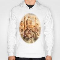 vienna Hoodies featuring Karlskirche, Vienna, Austria by Vargamari