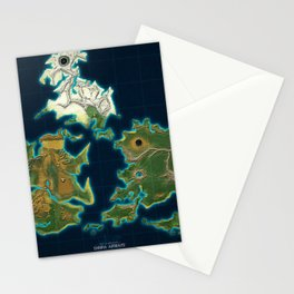 Final Fantasy VII - Shinra Airways World Map Stationery Cards