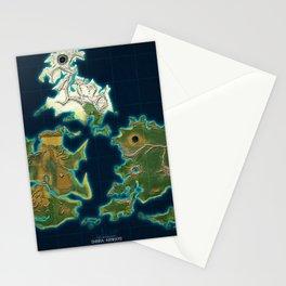 Final Fantasy VII - Shinra Airways World Map Stationery Cards
