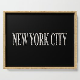 New York City (type in type on black) Serving Tray