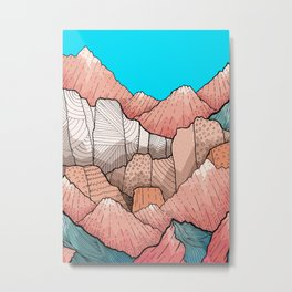 The hills and peaks Metal Print