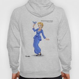 Princess Hillary Clinton (Trumble Cartoon) Hoody