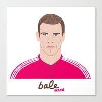 real madrid Canvas Prints featuring GARETH BALE - REAL MADRID by THE CHAMPION'S LEAGUE'S CHAMPIONS