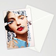 Make me beautiful | Collage Stationery Cards