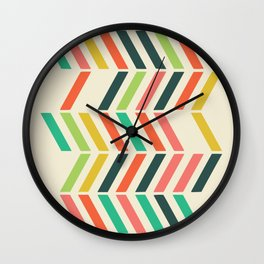 Color line pattern Wall Clock