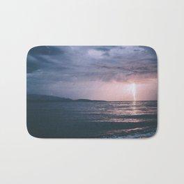 Lightning over the Strait of Georgia Bath Mat