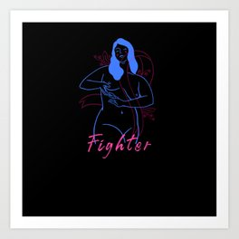 Fighter - Breast Cancer Art Print