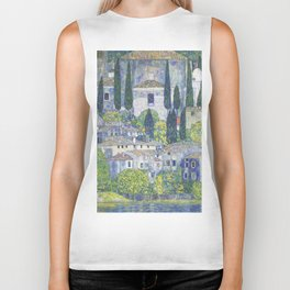 Gustav Klimt Church in Cassone Biker Tank