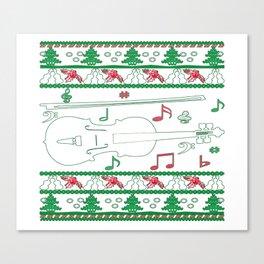 Violin Christmas Canvas Print