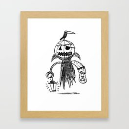 Jack o latern Framed Art Print