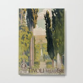 Tivoli Lazio Rome travel ad Metal Print