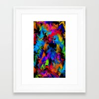 psychedelic art Framed Art Prints featuring Psychedelic  by Lord Rukaj