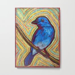 Bluebird of Insomnia Metal Print