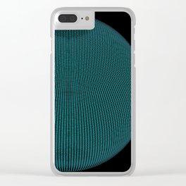Wire Globe Full Blue Black Clear iPhone Case