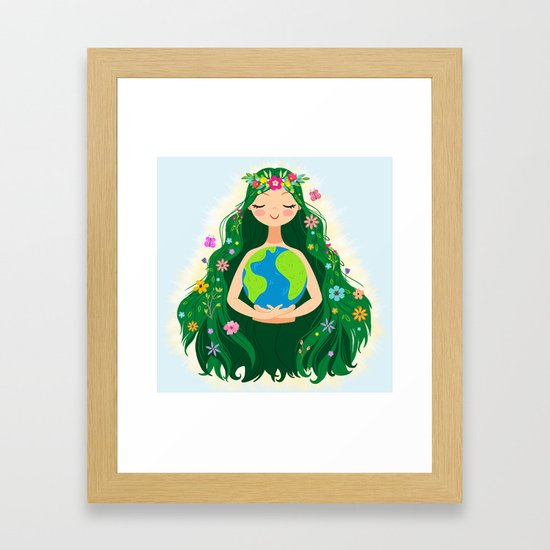 Beautiful Flowing Flower Earth Mother Figure by sunnybunny
