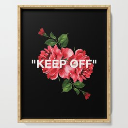 Keep Off White – Roses Serving Tray