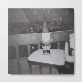 Snow Gnome Metal Print