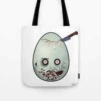 zombies Tote Bags featuring Zombies by Marcos Lozano