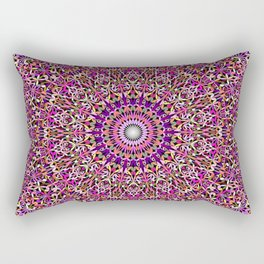 Colorful Girly Lace Garden Mandala Rectangular Pillow