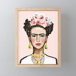 Face on Soft Pink Framed Mini Art Print