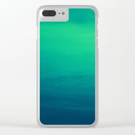 Blue/Green Heaven Clear iPhone Case