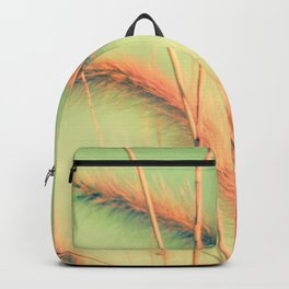 Swing into Spring (Reed Plants with Mint Green Sky Background) Backpack