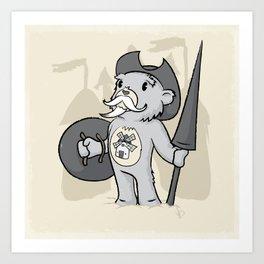 Don Quijoso de la Mancha Art Print