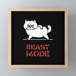Beast Mode Cat Framed Mini Art Print