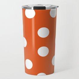 Polka Dots - Flame and White Travel Mug