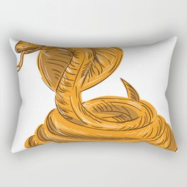 Cobra viper snake coi Rectangular Pillow