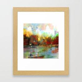 Afternoon autumnal in Central Park Framed Art Print