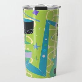 Midcentury Modern Fifties Jazz Composition Travel Mug