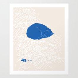 Blue Cat poster Art Print