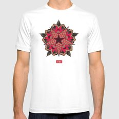 Star Pattern Mens Fitted Tee MEDIUM White