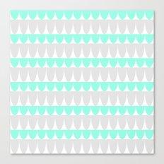 Mint & Silver Scallop Canvas Print