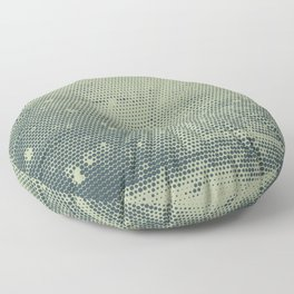 Grunge Delight Sepia Halftone Floor Pillow