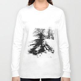 Black on white Long Sleeve T-shirt