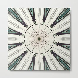 Concentric Earth Tones Abstract Metal Print