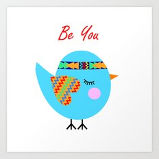Tribal Bird Art Print