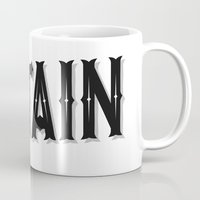 lettering Mugs featuring Putain - Lettering by Cindy TECHE