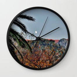 Moon Over Kotor Wall Clock
