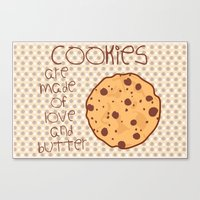 cookies Canvas Prints featuring Cookies by Mim sh.