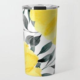Big yellow watercolor flowers Travel Mug