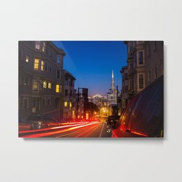 Nob Hill Night Rider Metal Print
